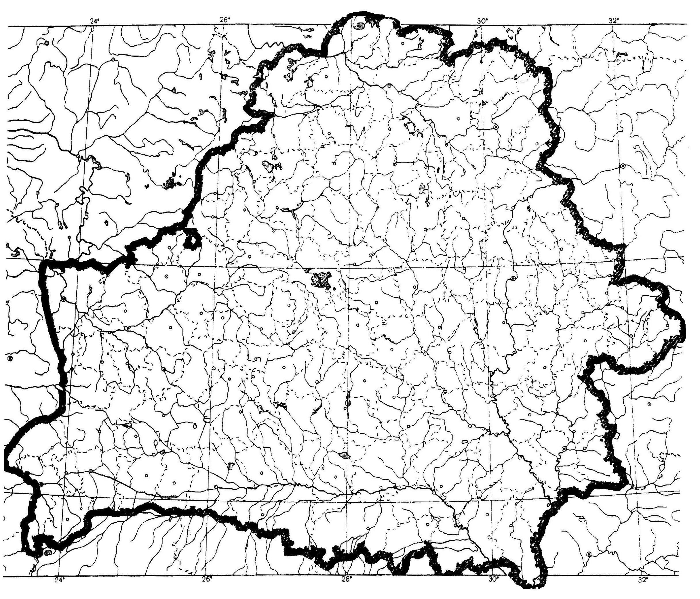Готовая контурная карта географии беларуси 10 класс гидрография